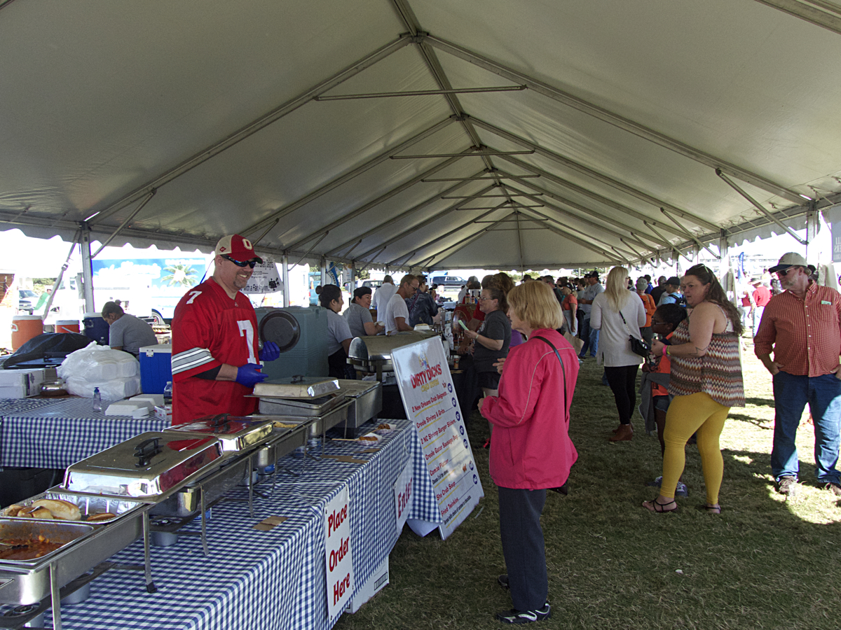 Serving up great seafood at the 5th Annual Outer Banks Seafood Festival.