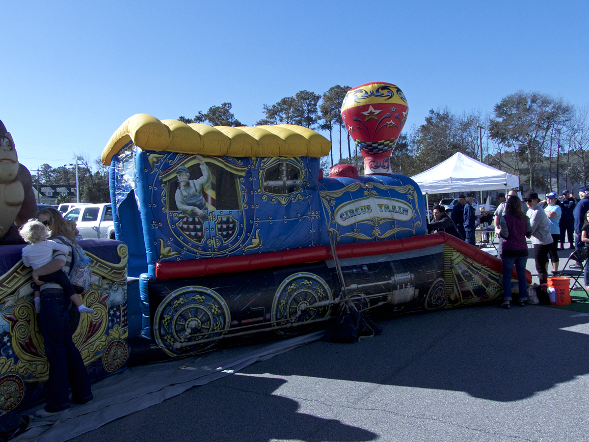 Inflatable train ride. One of the attractions at the Kitty Hawk Elementary School Fall Carnival.