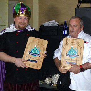 The Grandest of Grand Prize winners—Prince of Canned Goods. Chef Brian Hardison in Black and Frank Griffs, sous chef of the Jolly Roger.
