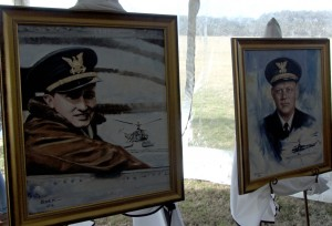 Commander Graham and Captain Erikson. Portraits for the Paul E. Garber First Flight Shrine.