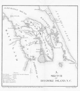 roanoke island map_obx