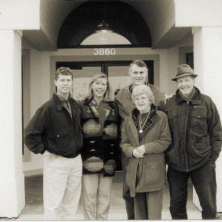 The Gray family: Ronnie, Julie, Larry, Estelle and Walter.