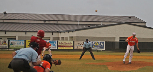 Outer Banks Daredevils' Will Connerly driving in a run.