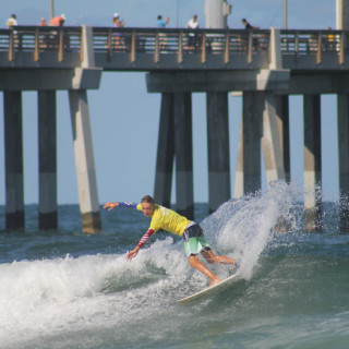 ESA competitor tearing it up in front of Jennette's Pier.