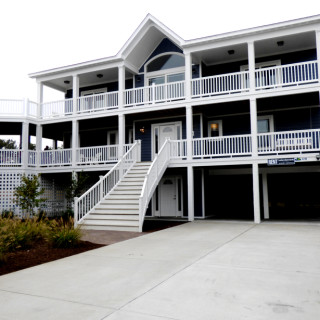Exterior of Jeff Ballard constructed home in Southern Shores.