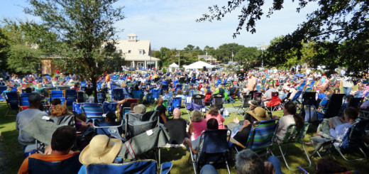 Great turnout at the 7th Annual Duck Jazz Fest.