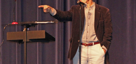 NC Poet Laureate, Joseph Bathanti, addressing First Flight High School students November 15. Photo Zach Smith, Nighthawk News.