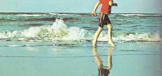 David Aycock Loy as a boy at the ocean.