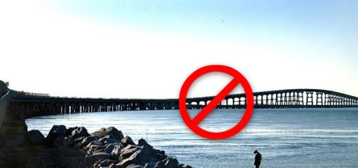 The Bonner Bridge, closed for repairs.