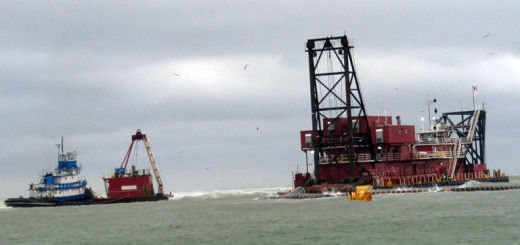 NCDOT dredging activities at Oregon Inlet.