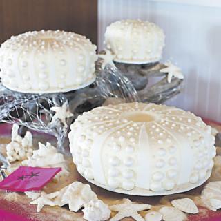 Melinda Gregory's sea urchin cakes.