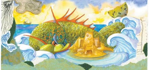 Sea Dragon with Sandcastle by Liz Corsa.