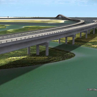 Rendering of Bonner Bridge replacement. Photo, NCDOT.