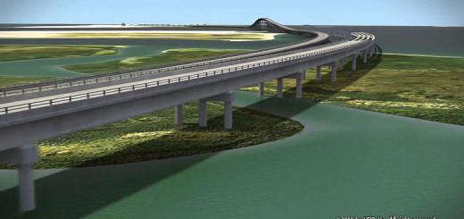 Rendering of Bonner Bridge replacement. Photo, NCDOT.