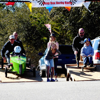 Let the races begin as Gracie drops the starting flag.