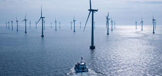 Lillgrund Offshore Wind Farm off the coast of Sweeden. Photo, Siemans Press.