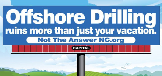 Billboard that Not the Answer NC placed on US 64.