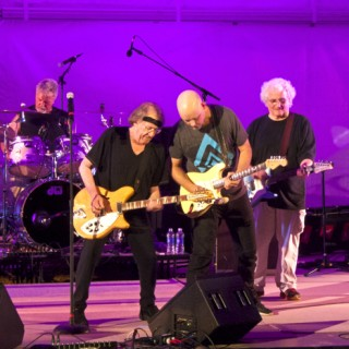 Jefferson Starship on stage at the Lost Colony. (LtoR) Donny Baldwin-drums, Paul Kantner, Jude Gold, David Freiberg. Not pictured Cathy Richardson, vocals and Chris Smith, keyboards.