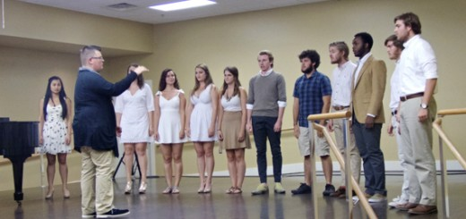 """The Lost Colony Choir in an acapela performance of """"The Battle of Jericho"""" at the conclusion of their program."""